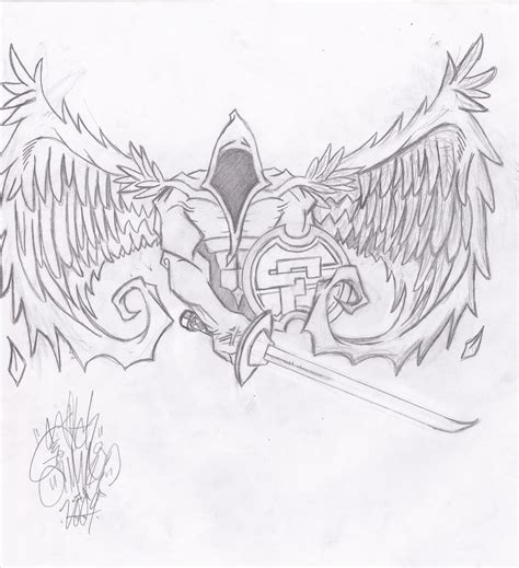 warrior angel tattoo designs warrior designs drawings pictures to pin on