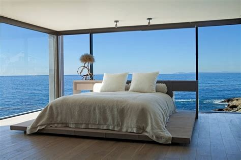 ocean bedrooms bedroom with ocean views and glass walls decoist