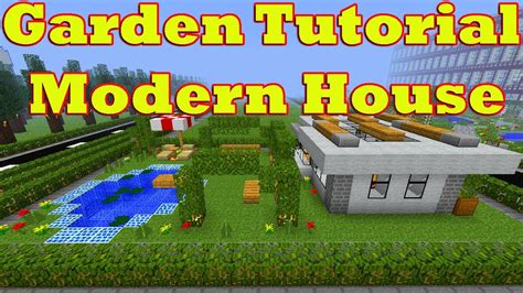 Garden Of Number Minecraft Garden Tutorial Of Modern House Number 16 Fully