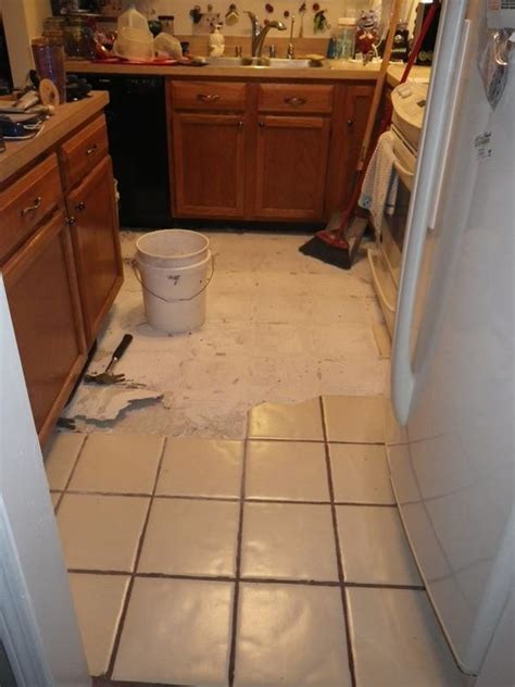 kitchen dining floor replacement day 1 stingray s log