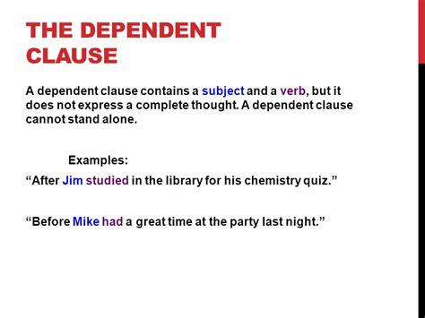 Subordinate Clause Examples