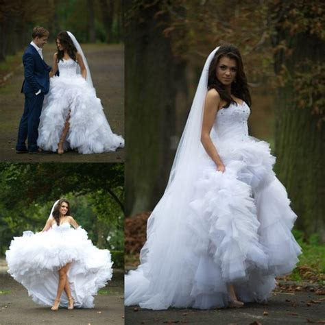 Wedding Ruffled by Wedding Dress High Low Wedding Dress Sweetheart Wedding