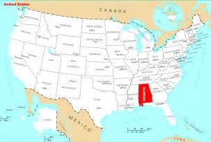 Alabama Usa Map by Where Is Alabama Located Mapsof Net