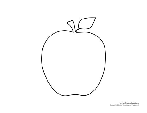 free coloring pages of apple template