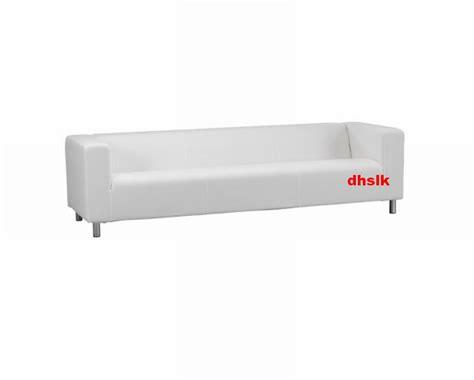 ikea klippan slipcover ikea klippan 4 seat sofa slipcover cover alme white last one