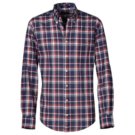 Checked Shirt gant seersucker checked shirt gant from gibbs menswear uk