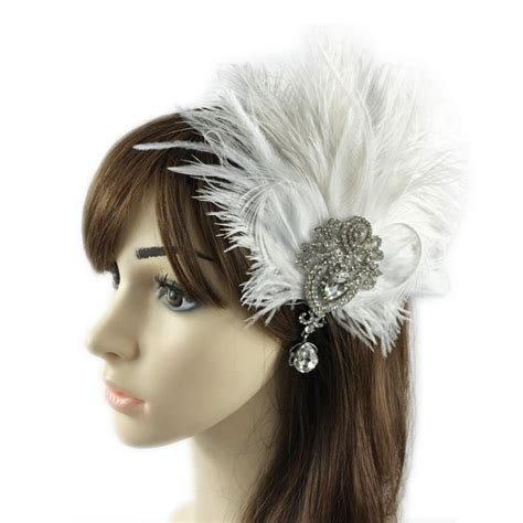Wedding Hair Accessories Pink by 2017 New Fashion Feather Rhinestones Hair Accessories For