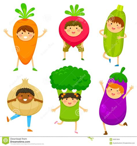 l like vegetables dressed like vegetable stock vector illustration