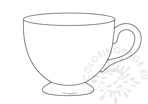 teacup template for card s day coloring page