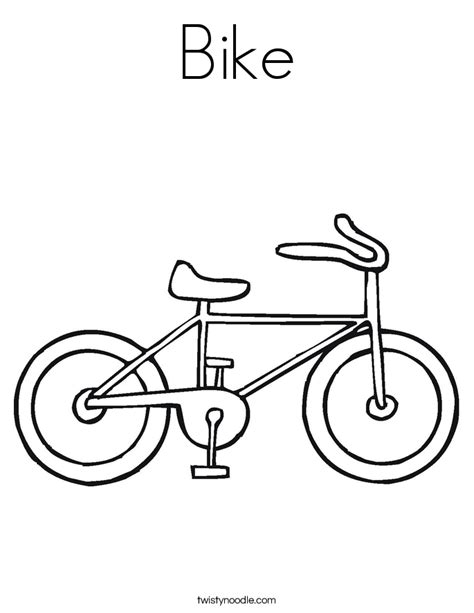 bike coloring page twisty noodle