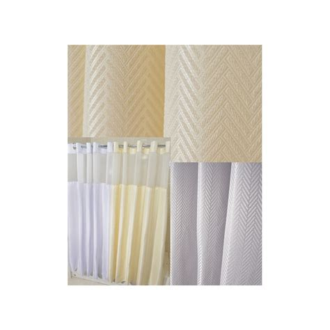 74 shower curtain liner 72 quot x 74 quot ezy hang chevron shower curtain with voile