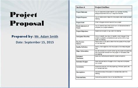 Word Project It Project Template Word Project