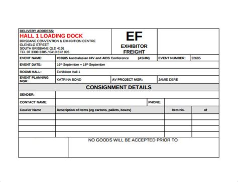 delivery note templates delivery note template 21 free documents in