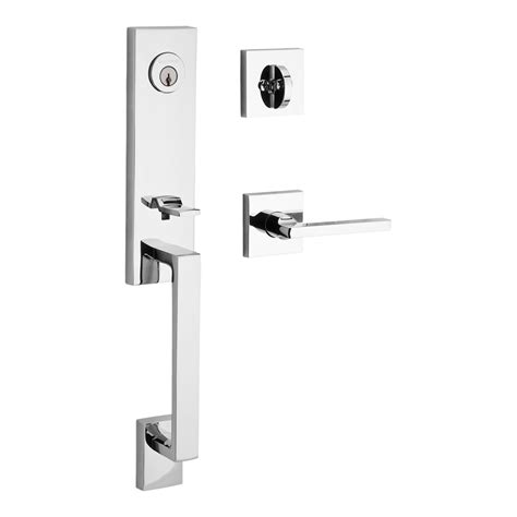front entry door handlesets shop baldwin reserve seattle x square lever polished