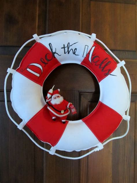 deck your boat deck your boat s halls with this nautical wreath