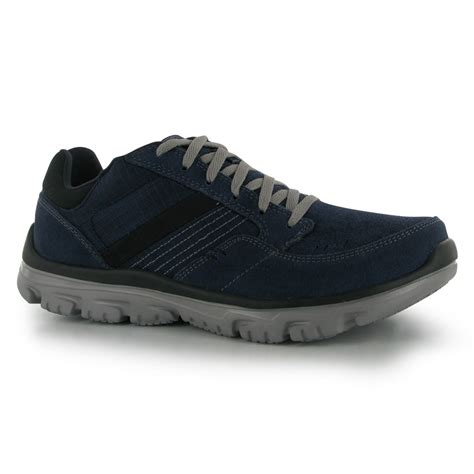 comfort lite shoes skechers mens lite fit comfort trainers lace up mesh