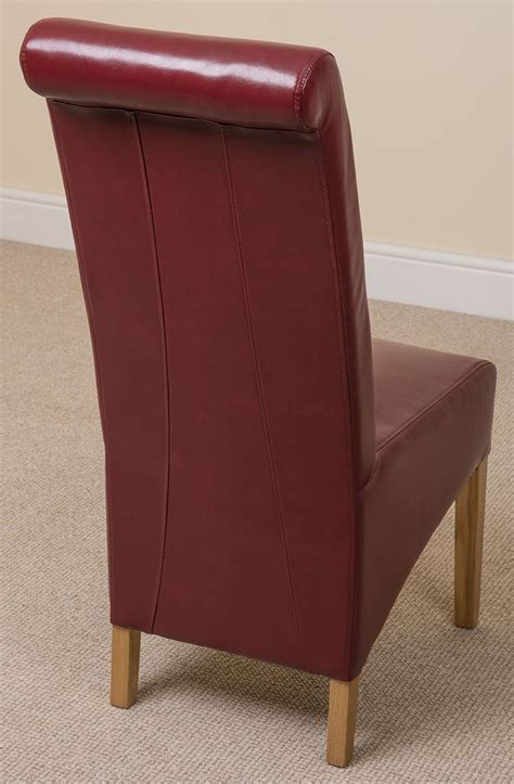 x6 montana scroll back leather dining chairs dining room