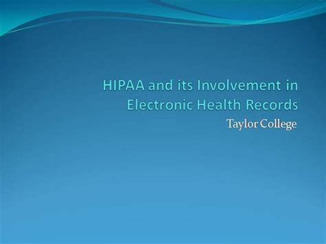 Hipaa And How It Relates To Ehr Authorstream Ehr Powerpoint Templates