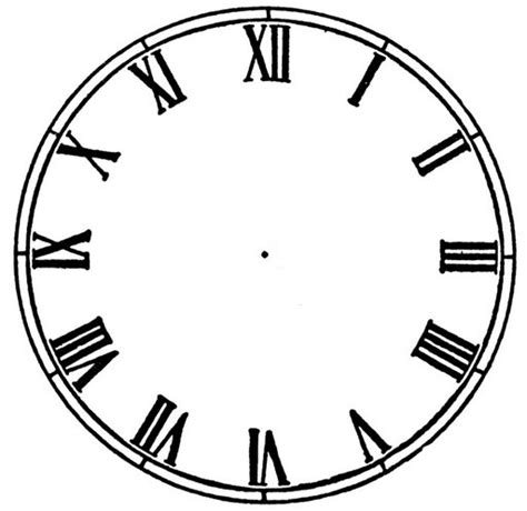 clockface template blank clock template clipart best