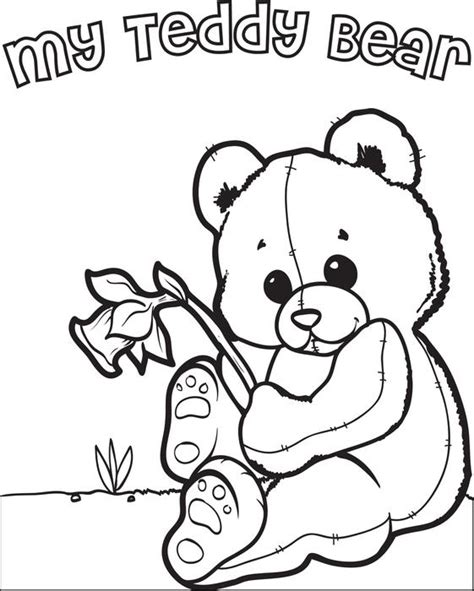 teddy bear coloring pages for preschoolers free printable teddy bear coloring page for kids