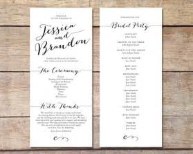easy wedding program template items similar to simple wedding program customizable design simple classic wedding