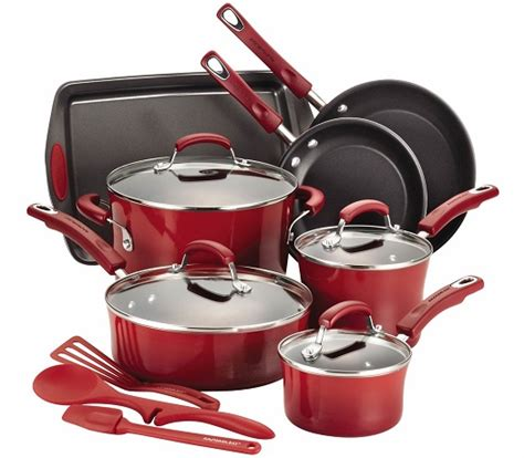 amazon pan cookware sets save 50 or more on rachael ray t fal