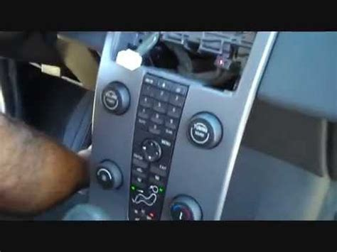 volvo  car stereo removal   repalce repair youtube