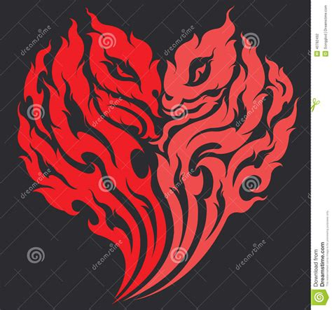 xs tattoo prices dragon heart tattoo design stock vector image 40782492