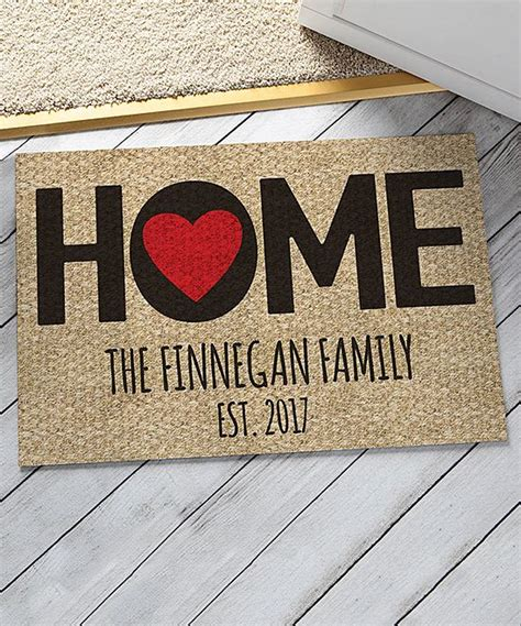 Home Is Where The Is Doormat by Home Is Where The Is Personalized Door Mat