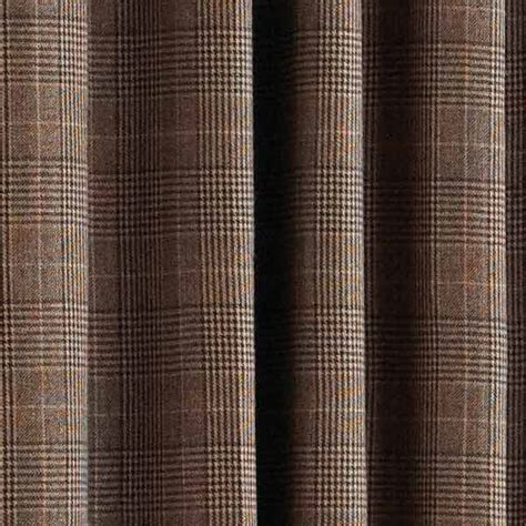 brown check curtains paoletti courcheval tartan check lined eyelet curtains