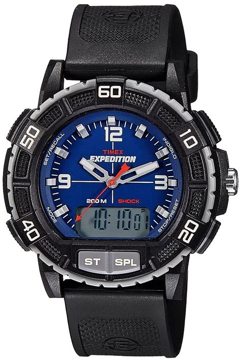 timex expedition analog digital blue s