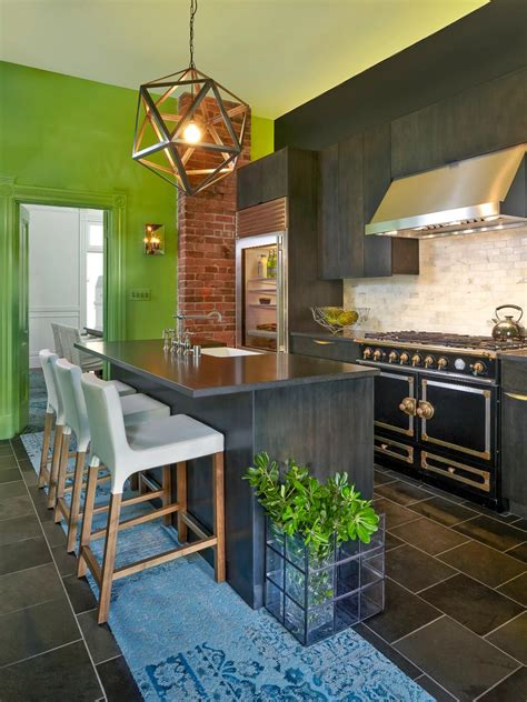 beautiful interior colours that go with green renovation 30 colorful kitchen design ideas from hgtv hgtv