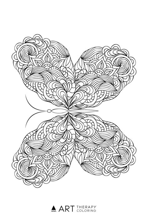 butterflies coloring book for adults books free butterfly coloring page for adults therapy coloring