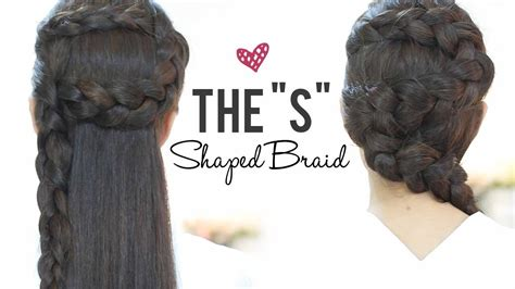 hairstyles with braids patry jordan s shaped braids hairstyles step by step youtube