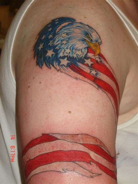 american flag eagle tattoo picture collection american flag tattoos