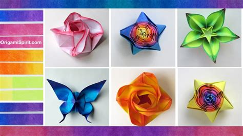 Color Paper Crafts - free coloring pages how to color paper for origami and