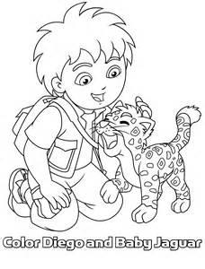kleurplaat diego en baby jaguar samen op 1 kleurplaat 8570 kleurplaten