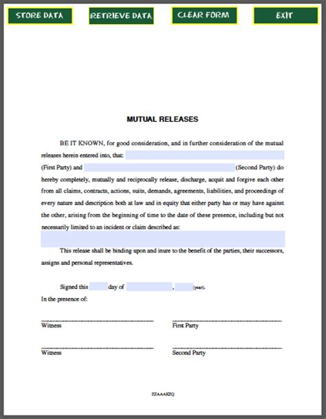 Agreement Release Letter Releases Agreement Template Free Fillable Pdf Forms Free Fillable Pdf Forms