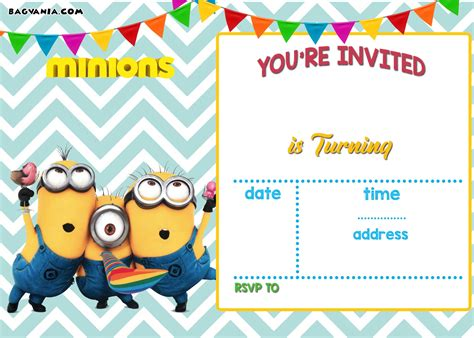 invite christmas minion free printable minion birthday invitations ideas template free invitation templates drevio