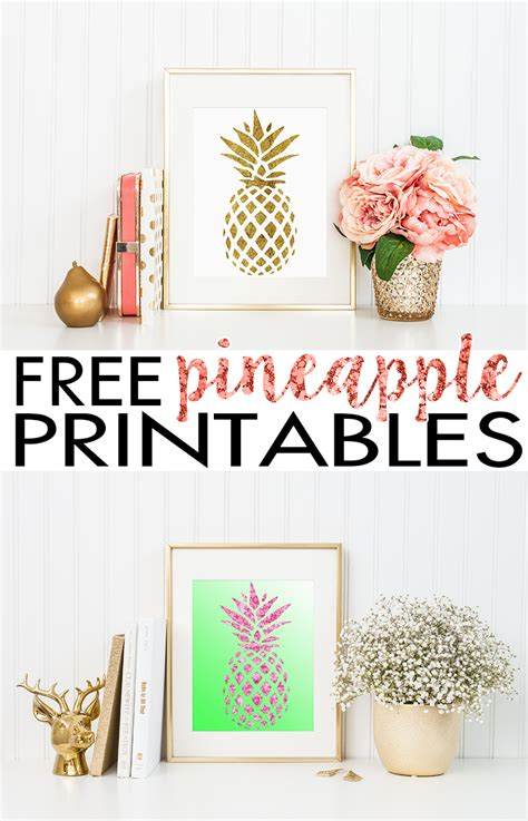 free printable wall art decor pineapple wall art free printable hairspray and highheels