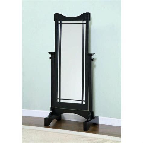 Black Floor Mirror by Black Wood Floor Standing Cheval Mirror Room Accessories