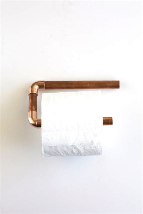 toilet paper holder diy copper pipe toilet paper holder kristi murphy diy ideas