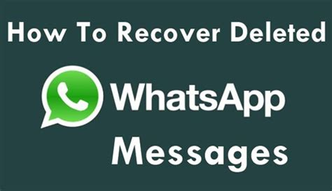 how to retrieve deleted messages from whatsapp on iphone 6