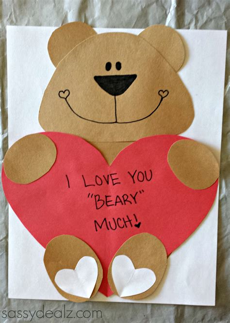 valentines day crafts for toddlers quot i you beary much quot craft for