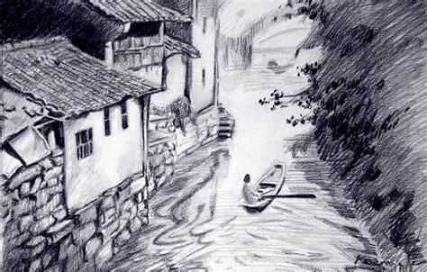 Landscape Drawings Unfinished Landscape Drawing By Koanne On Deviantart