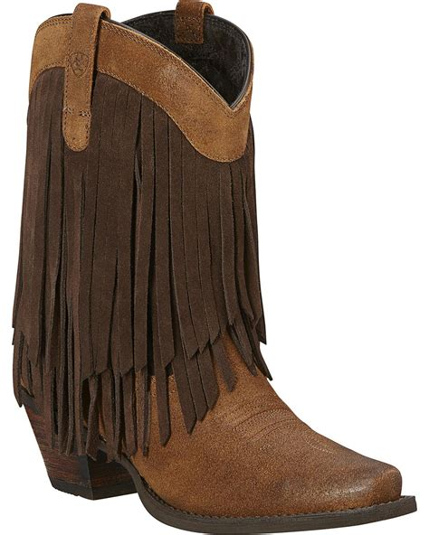 ariat s gold fringe boot snip toe