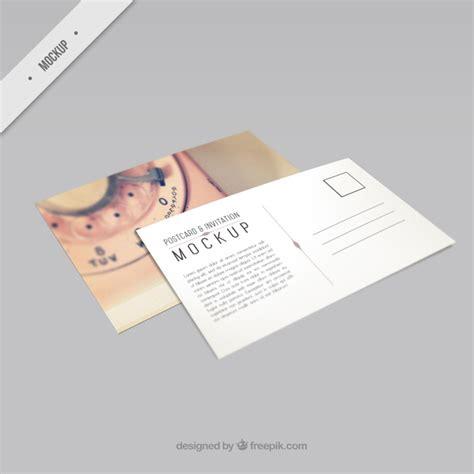 postcard template psd beautiful phone postcard mockup psd file free