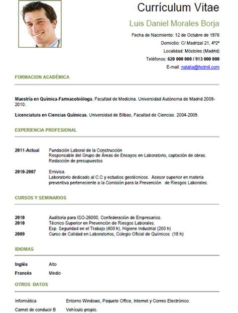Modelo Curriculum Aleman Plantillas Y Ejemplos De Curriculum En Alem 225 N Trabajar En Alemania Cvexpres Page 10