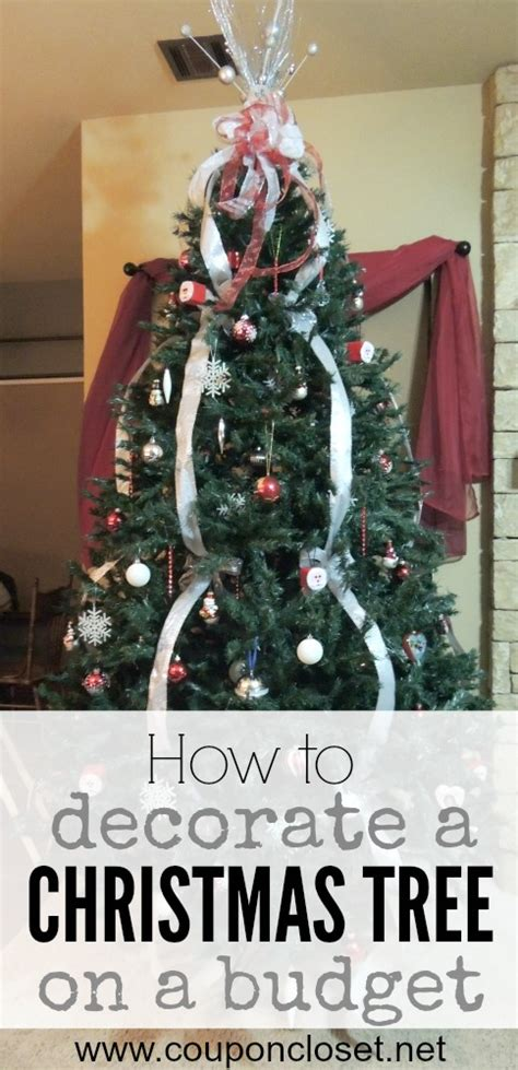 how to decorate a christmas tree on a budget one crazy mom