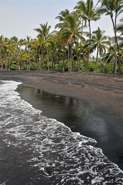 black sand island black sand beach big island hawaii places i d like to